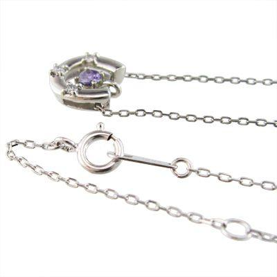 馬蹄型 ペンダント ネックレス アメジスト(紫水晶) ダイヤモンド Pt900|skybell|03