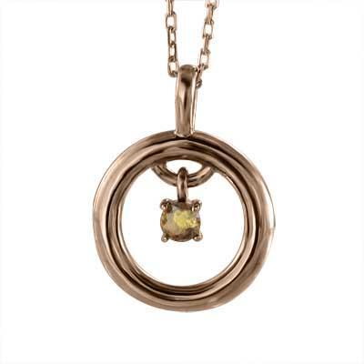 見事な創造力 丸い ペンダント 一粒 シトリン(黄水晶) k10ピンクゴールド 11月の誕生石, ワクイショップ b39f66ed
