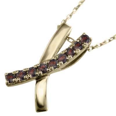 上質で快適 ジュエリー ネックレス デザイン クロス ガーネット 1月誕生石 イエローゴールドk10, 激安コスメビレッジ fa5021cb