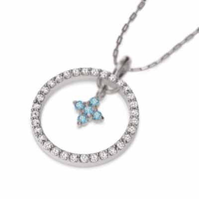 高品質の激安 ペンダント ネックレス クロス デザイン ブルートパーズ 11月の誕生石 プラチナ900, ツゲムラ 29d981df