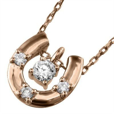 芸能人愛用 10金ピンクゴールド ネックレス ネックレス 4月誕生石 天然ダイヤモンド 4月誕生石 馬蹄 馬蹄, 腕時計ノップル:1c8344c3 --- airmodconsu.dominiotemporario.com