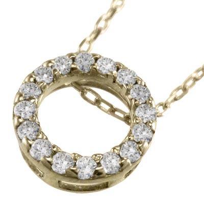 手数料安い ネックレス 天然ダイヤモンド k10イエローゴールド 約8.5mmサイズ, SQUARE PLUS 48da6af4