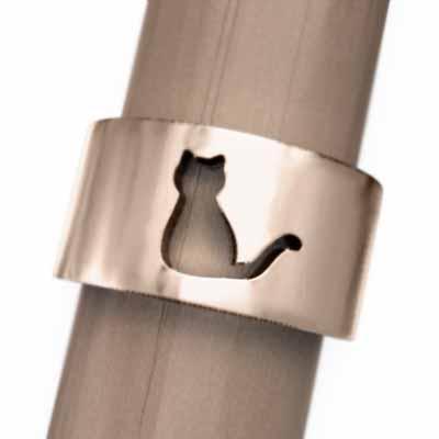 気質アップ 指輪 犬 スタンダード 18金ピンクゴールド 猫の型抜き, イググン 44466897