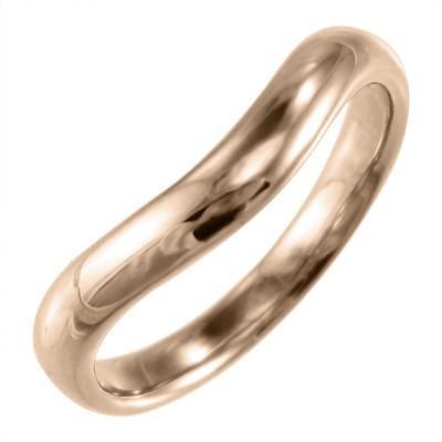 正規品! 甲丸 指輪 メンズ V字 地金 10kピンクゴールド, 小さな石屋さん 0d44fd99