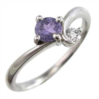 魅了 k18ホワイトゴールド 指輪 2月の誕生石 2月の誕生石 指輪 アメジスト 天然ダイヤモンド, くつコレ:dc21ee55 --- sonpurmela.online