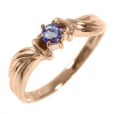 いいスタイル 指輪 1粒 石 タンザナイト 指輪 1粒 12月誕生石 タンザナイト k10ピンクゴールド, 三川町:98567955 --- airmodconsu.dominiotemporario.com