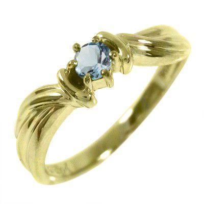 人気 アクアマリン 指輪 1粒 石 K10 3月誕生石, NORTH COWBOY ab614d41