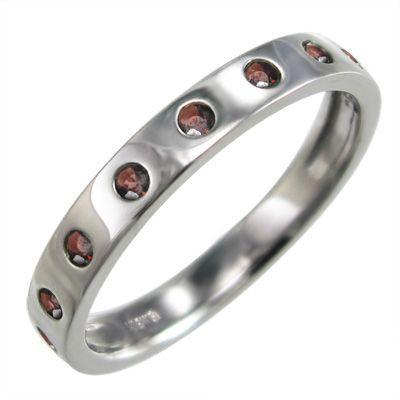 見事な創造力 指輪 ガーネット 9ピース 1月誕生石 ガーネット 指輪 k10ホワイトゴールド 9ピース, 京都郡:892475eb --- airmodconsu.dominiotemporario.com