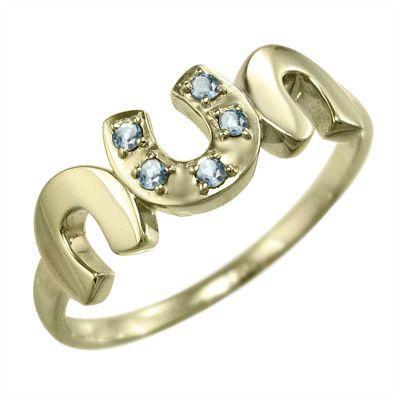 生まれのブランドで k10イエローゴールド 指輪 ラッキーアイテム馬蹄 指輪 5石 3月誕生石 3月誕生石 アクアマリン アクアマリン, 青森下北半島のお店 こめいち:417aa065 --- bit4mation.de