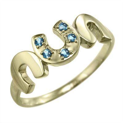 【上品】 指輪 5石 指輪 馬蹄 11月誕生石 デザイン 5石 ブルートパーズ(青) 11月誕生石 k10イエローゴールド, 味の通り道:871c9529 --- airmodconsu.dominiotemporario.com