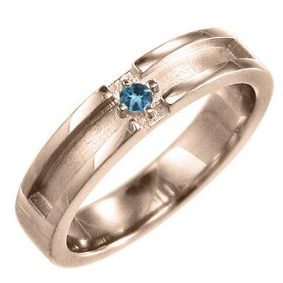 世界的に 10金ピンクゴールド 一粒 十字架 小指 指輪 十字架 小指 一粒 11月の誕生石 ブルートパーズ(青), 大洗町:470178f5 --- airmodconsu.dominiotemporario.com