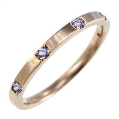 贈り物 タンザナイト 平らな指輪 平らな指輪 タンザナイト 5石 12月の誕生石 k18ピンクゴールド 12月の誕生石, アゲオシ:b9664e53 --- odvoz-vyklizeni.cz
