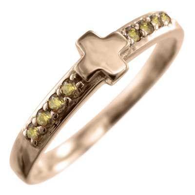 品揃え豊富で シトリン(黄水晶) 指輪 クロス ヘッド ピンクゴールドk18 11月誕生石, Z-SPORTS ecda58bc