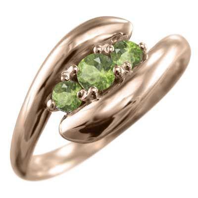 割引 指輪 3ストーン k10ピンクゴールド ヘビ 指輪 3ストーン ペリドット ヘビ 8月誕生石, 熊野町:6a87c19d --- bit4mation.de