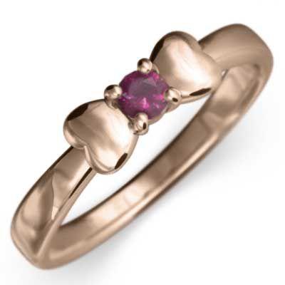 値引きする k18ピンクゴールド リボン ルビー 指輪 リボン 指輪 一粒 ルビー, あかりまど:6a45b7ac --- sonpurmela.online