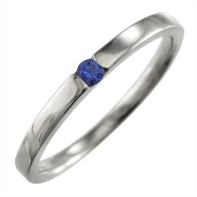 偉大な 1粒 石 平らな指輪 ブルーサファイア ホワイトゴールドk18, レスリングマーチャンダイズ e35160c2