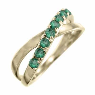 新品入荷 k10イエローゴールド 指輪 指輪 クロス エメラルド ヘッド 5月の誕生石 5月の誕生石 エメラルド X型, カメラの大林:681292e5 --- airmodconsu.dominiotemporario.com