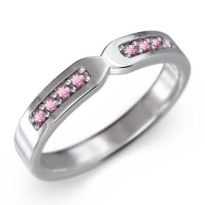 【高価値】 k10ホワイトゴールド 平らな指輪 平らな指輪 10月誕生石 ピンクトルマリン 10月誕生石, 大和郡山市:3b4f890f --- airmodconsu.dominiotemporario.com