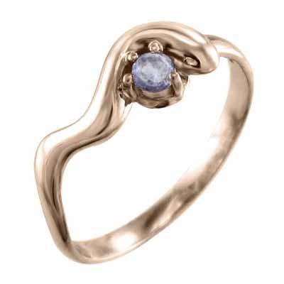 第一ネット 指輪 金運 象徴 ヘビ 1粒 石 タンザナイト k10ピンクゴールド 12月の誕生石, ホンゴウソン c332f088