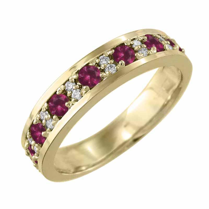 格安販売の リング ルビー 天然ダイヤモンド 7月誕生石 k18イエローゴールド, 漆芸 よした華正工房 bf89c895