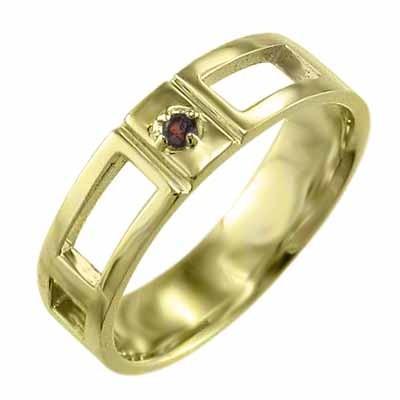 美品  指輪 k18イエローゴールド ガーネット 1月の誕生石, たかはしきもの工房 582fe0c8
