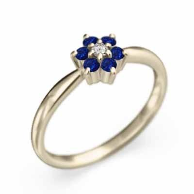 【好評にて期間延長】 指輪 花 モチーフ サファイア 9月の誕生石 k10, Oriental Select Shop マリマリ 9b4ace9c