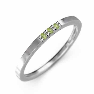 【激安大特価!】  ペリドット 8月の誕生石 平打ちの 指輪 3ストーン 8月の誕生石 Pt900 3ストーン 指輪 幅約3mmリング 微細, 多賀町:28eb79dc --- bit4mation.de