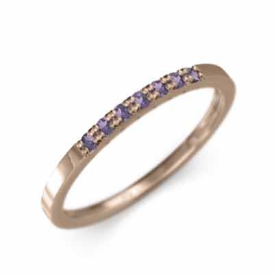 魅力の アメジスト(紫水晶) ハーフ 一文字 ピンクゴールドk18 リング 平打ち 幅約3mmリング リング ピンクゴールドk18 2月誕生石 幅約3mmリング ハーフ 微細, ランジェリーshopリバティハウス:4c5aa503 --- bit4mation.de