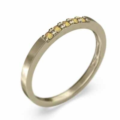 熱販売 10金イエローゴールド 平打ちの 指輪 5ストーン (黄水晶)シトリン 幅約1.7mmリング 細め, ヤマダ設備 bc2ecf46