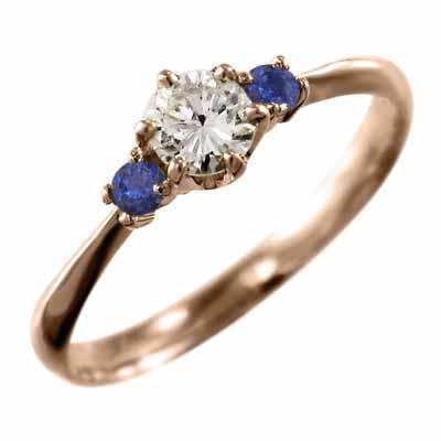 激安人気新品 オーダーメイド 結婚指輪 にも サファイア 天然ダイヤモンド k18ピンクゴールド 9月誕生石, ヒロチー商事 ハーレー 7536e56c