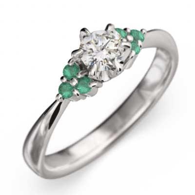 【人気No.1】 k18ホワイトゴールド 結婚指輪 にも エメラルド 天然ダイヤモンド, ごまのオニザキ 63cef069