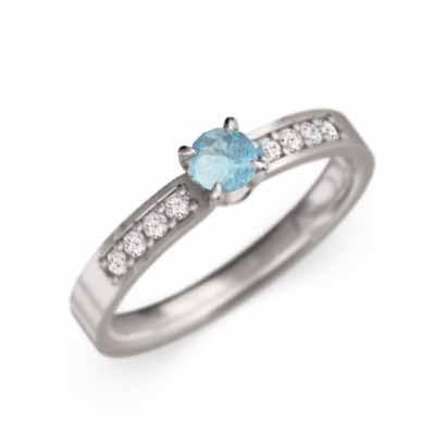 お見舞い リング 1粒石 1粒石 リング ブルートパーズ(青) 天然ダイヤモンド 18金ホワイトゴールド, インバグン:c1e1d746 --- airmodconsu.dominiotemporario.com