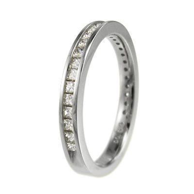 ハーフ エタニティ 指輪 ダイアモンド 4月誕生石 プラチナ900 プリンセスカット|skybell|03