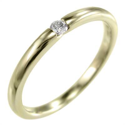 競売 k10イエローゴールド オーダーメイドマリッジリングにも レディース 一粒 ダイヤモンド, 花と手作り石鹸の店 0a323932