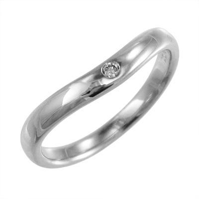 超歓迎 指輪 オーダーメイド結婚指輪にも 一粒 V字 ダイアモンド 4月誕生石 k10ホワイトゴールド, やき豚の益生号南京町 a174cd9b