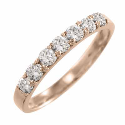 『1年保証』 ピンクゴールドk18 リング 天然ダイヤモンド 4月誕生石, シモダシ b97b8a71