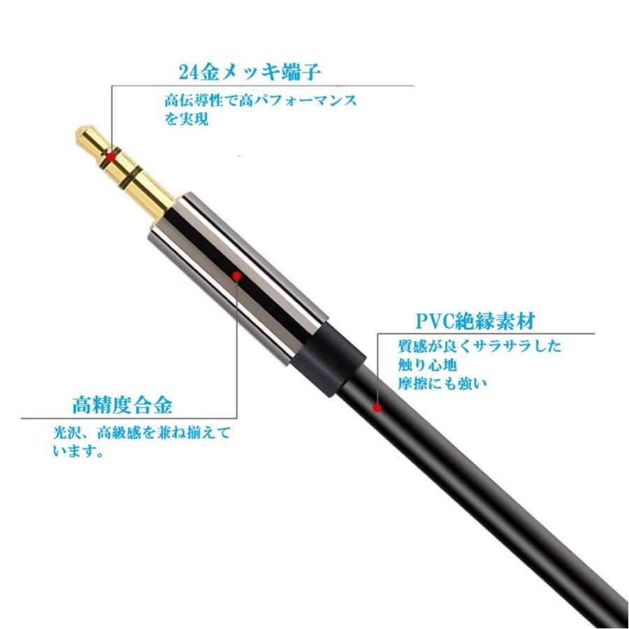 ステレオミニプラグ オーディオケーブル 標準3.5mm AUX接続 延長 (1m オス・オス) 送料無料 skybird 08