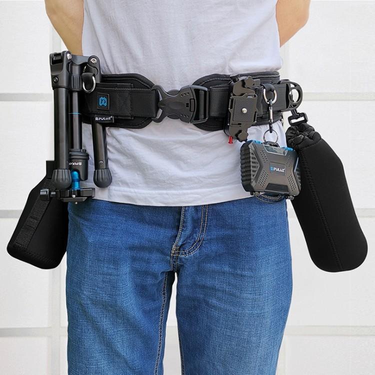 多機能写真撮影ベルト 自転車 登山 乗馬 カメラ愛好者に 固定吊りベルト カメラ 水筒 三脚 眼鏡 ペン など ウエストバンド 屋外撮影補助 マルチベルト MBPU234 skynet 04