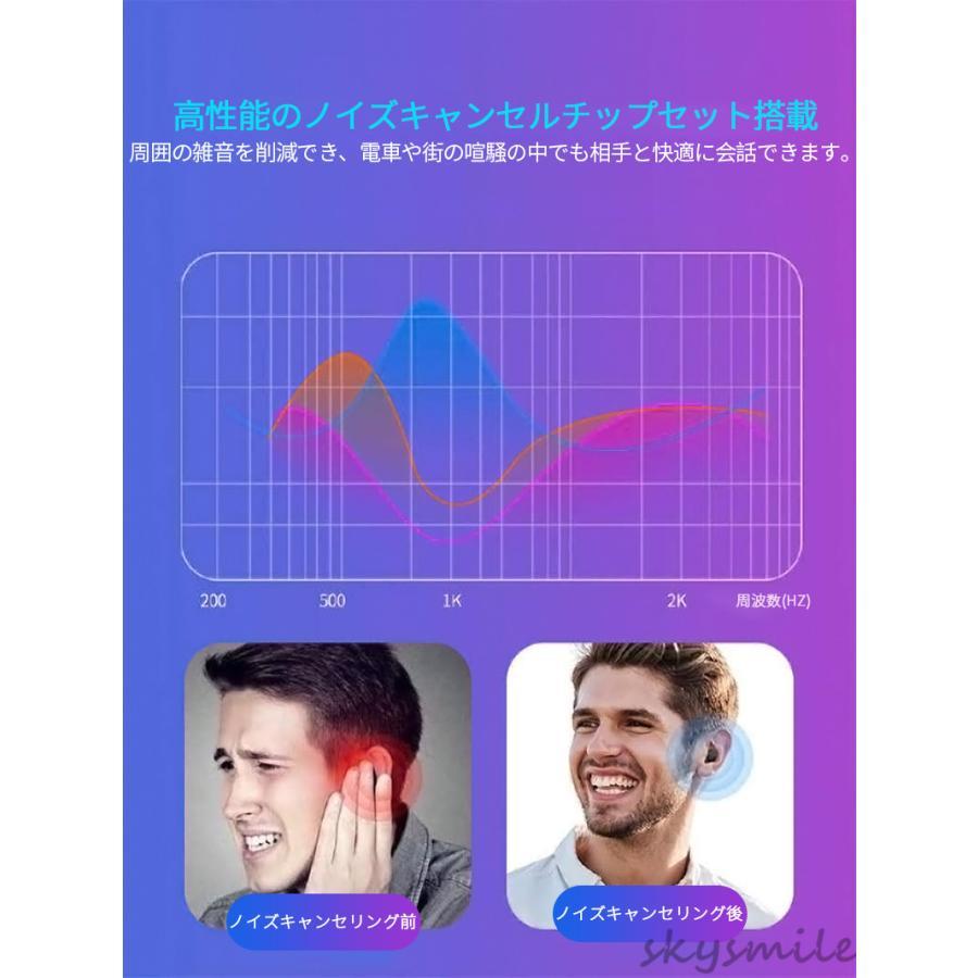 【即納】【日本語説明書付き】ワイヤレスイヤホン ブルートゥース bluetooth5.0 無痛装着 片耳用 超小型 ハンズフリー通話 iPhone android対応 skysmile 05