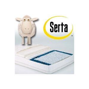 正規品 SERTA(サータ) ポスチャーパーフェクトスリーパー(片面ピローソフトタイプ)キング2 幅(102×2)×長さ196×厚さ34cm