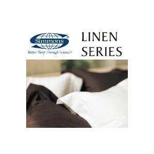 シモンズ リネンシリーズ コンフォーターカバー キング用 230×210cm ブラウン×ホワイト2色カラー SA6304 受注生産 sleeproom 01