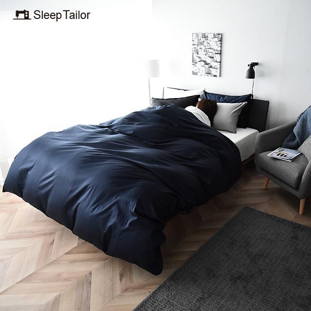ボックスシーツ クイーン サテン ベッドシーツ シルクのような肌触り 防ダニ 日本製 マットレスカバー ノーブル|sleeptailor|05