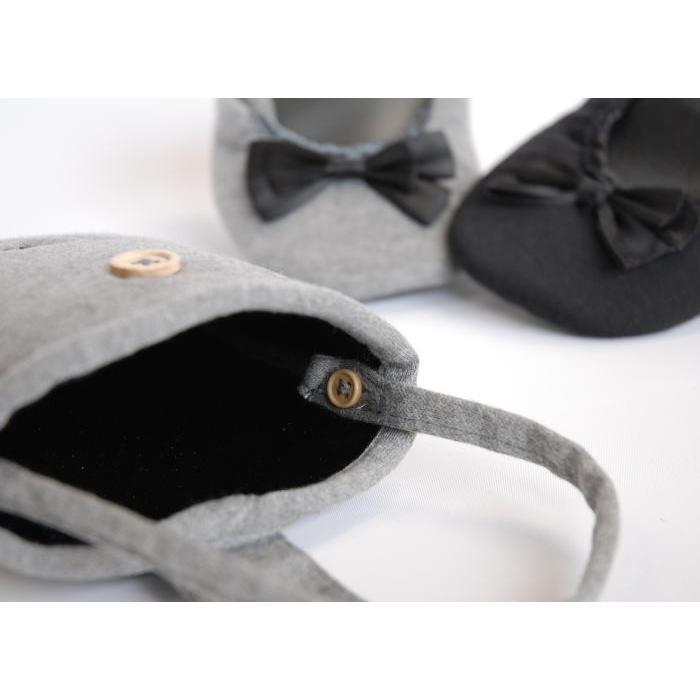 リボン・刺繍付き携帯スリッパ  送料無料 slipper38 02