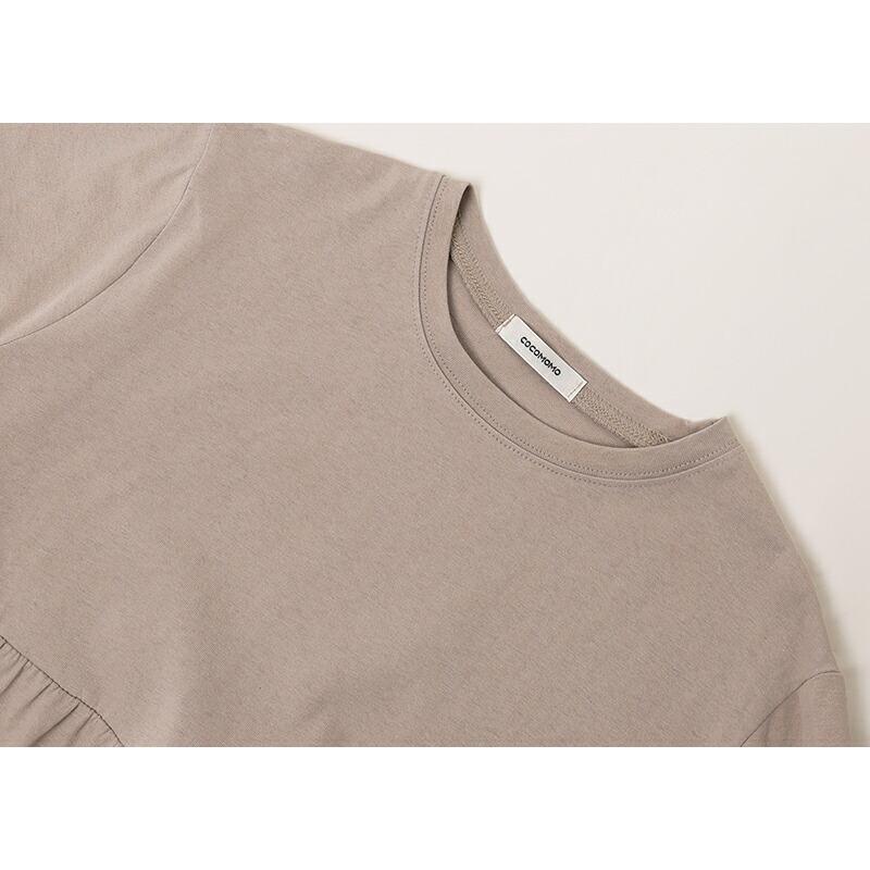 レディースティアードチュニック トップス カットソー シャツ 半袖 春 夏 無地  体型カバー  綿100% 大きいサイズ ゆったり  シンプル 涼しい 韓国 フレア sljapan 15