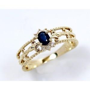 【オンライン限定商品】 K14 0.15ct サファイアアンティークリング 指輪 15号, ヴィヴォスタイル d051ac37