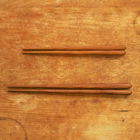 箸 子供 木製 天然オイル 日本製 トレーニング 日本製 オイル仕上げ 桜 こども箸 13cm 15cm メール便対象品|slowworks