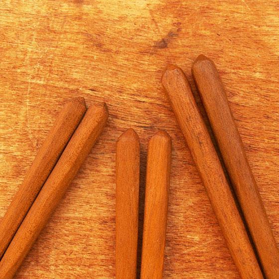 箸 子供 木製 天然オイル 日本製 トレーニング 日本製 オイル仕上げ 桜 こども箸 13cm 15cm メール便対象品|slowworks|02