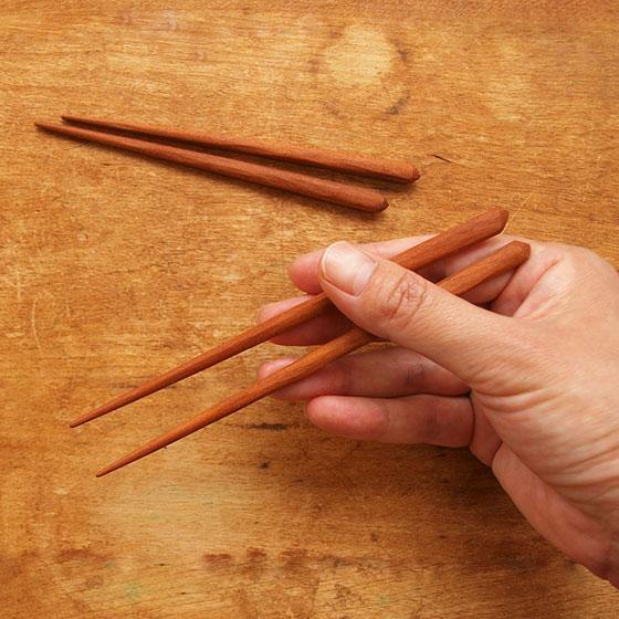 箸 子供 木製 天然オイル 日本製 トレーニング 日本製 オイル仕上げ 桜 こども箸 13cm 15cm メール便対象品|slowworks|06