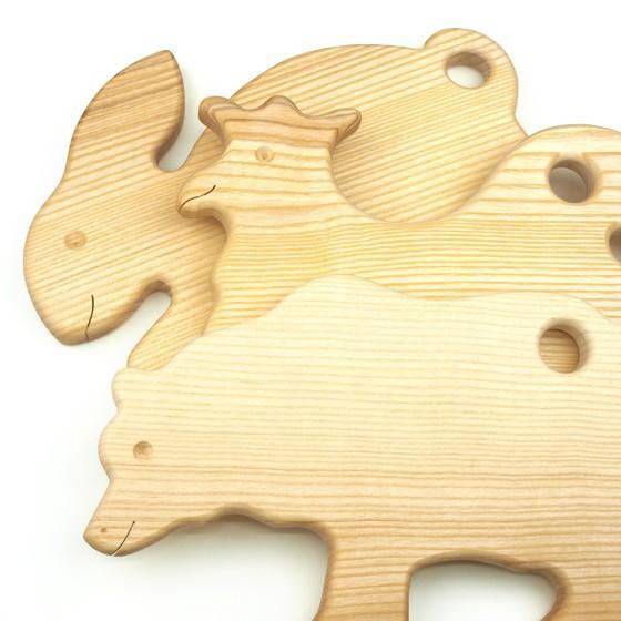 ドイツ製 アニマルシェイプ 木製 カッティングボード まな板 トレー キッチン 雑貨 かわいい パン おしゃれ ナチュラル パーティー|slowworks|07