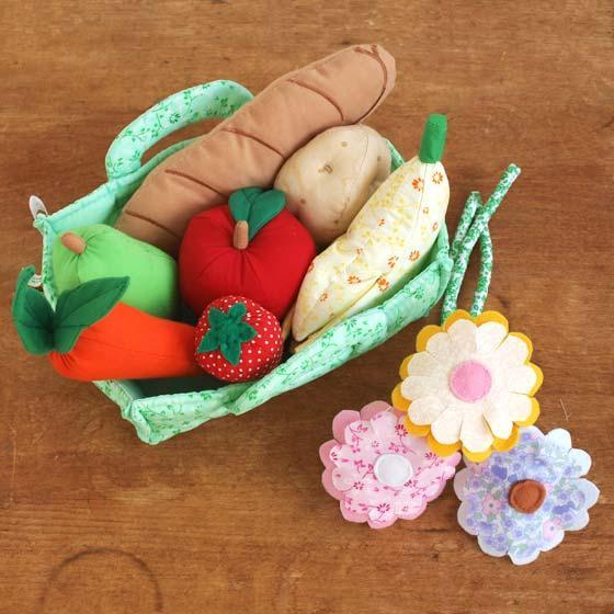 ごっこ遊び 布おもちゃ 食材 セット ままごと 女の子 出産祝い 誕生日 Oskar&ellen オスカー&エレン ファーマーズマーケットバスケット